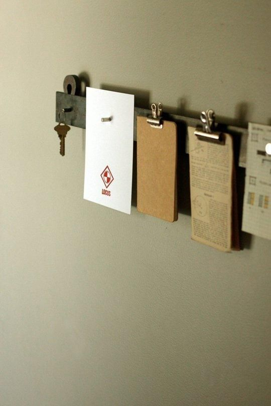 Easy Organizing: 15-Minute, $15 DIY Floating Steel Notice Bar -★-