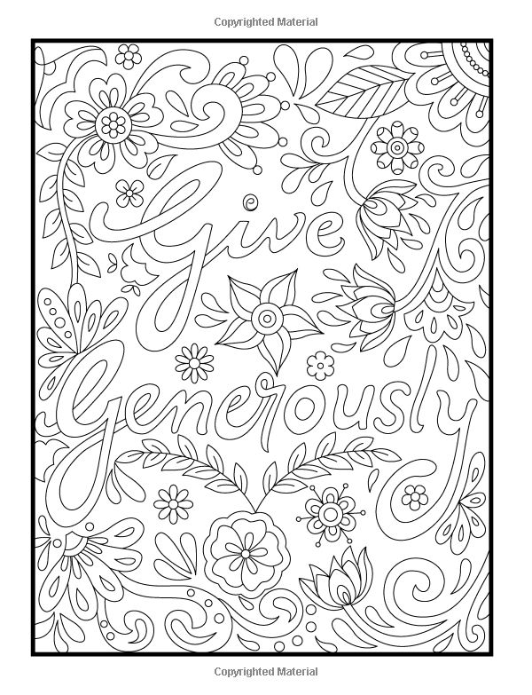 Amazon Inspirational Quotes An Adult Coloring Book With Motivational Sayings Positive PagesColoring SheetsColoring