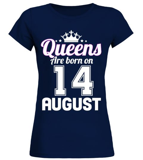 QUEENS ARE BORN ON 14 AUGUST - Round neck T-Shirt Woman