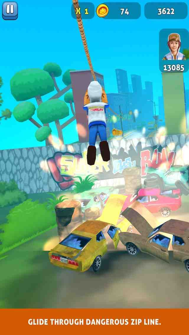 Super Dash Run! App for Android - Get geared up for this new action-packed fun run adventure running game phenomenon with Super Dash Run - the #1 running game for Android! Step into the life of one of the many exciting super running characters within this casual run subway surfing game. You will have an adrenaline surf rush while escaping your parents after getting caught in action with their child. Use your many fun run abilities to jump over cars, zip line over traffic and even the ocean…