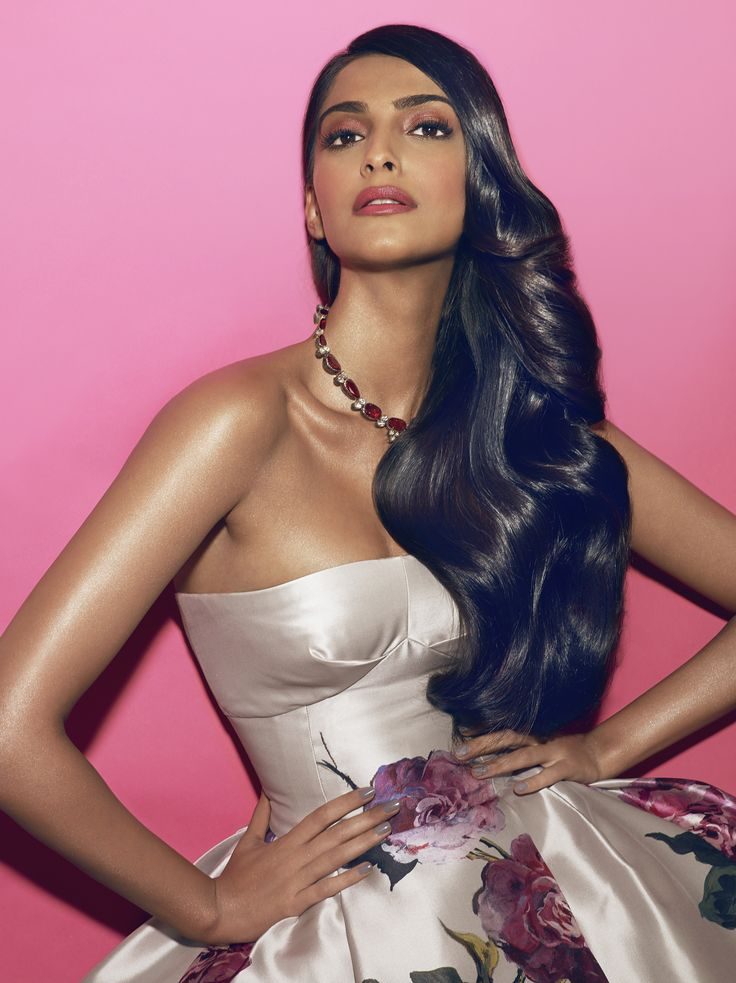 Sonam Kapoor beauty portrait from the Festival de Cannes 2013.