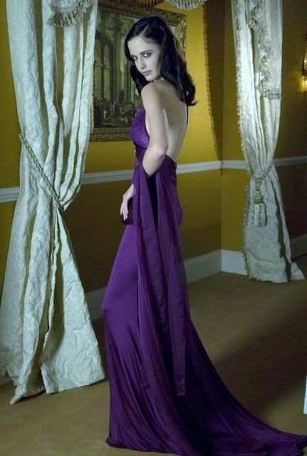 Eva Green in Casino Royale wearing a Roberto Cavalli Dress