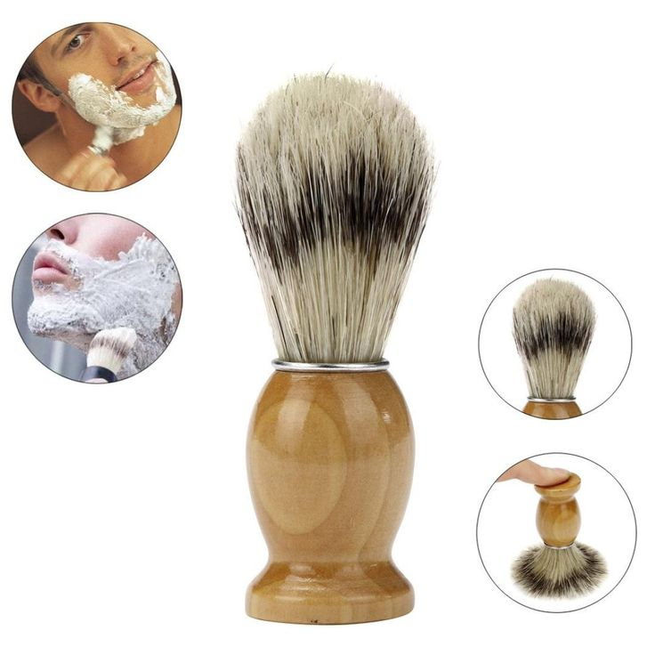 Razor Brush, ZY Professional Barber Salon Shave Shaving Razor Brush Wood Handle Tool. This shaving brush is made from best badger hair which is set in a WOODEN handle with a waist design, producing the richest lather possible to give you years of use. The densely filled brush head is ideal for holding and distributing lather and will help soften and raise beards while gently exfoliating skin in preparation for a close, comfortable shave. Material: Best Badger Hair Brush+Wood handle…