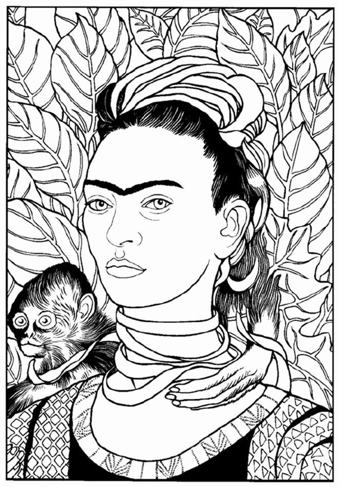 - Frida Kahlo Coloring Page Elegant Frida Kahlo Coloring Pages At  Getcolorings In 2020 Art, Kahlo Paintings, Colorful Art