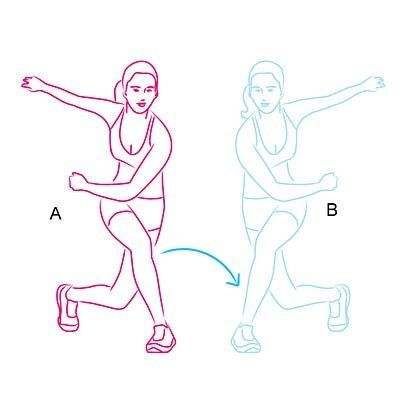 skater-lunge - this move works your quads, hamstrings, and glutes.
