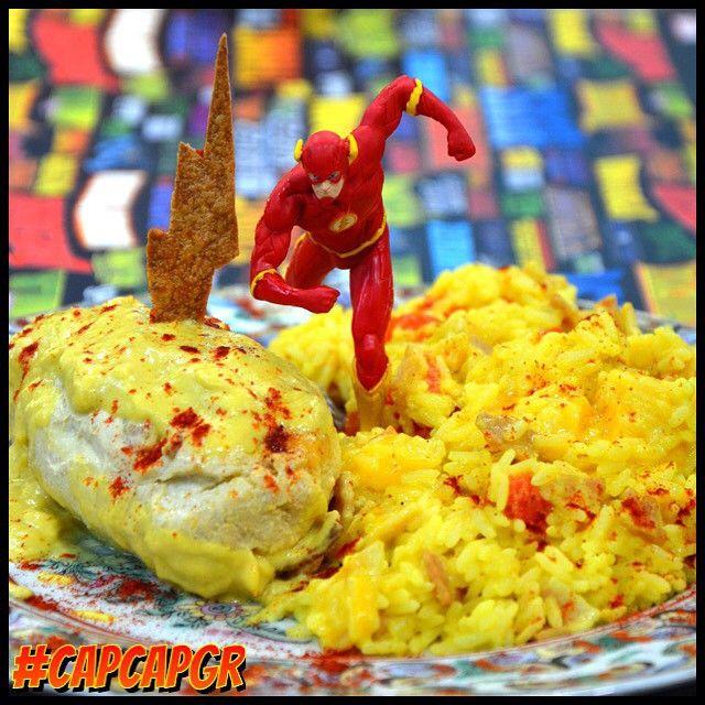 THE FLASH Δημιουργήσαμε για εσάς, φιλέτο κοτόπουλο γεμιστό με μπέικον και μουστάρδα συνοδεύεται με ρύζι, σωταρισμένο μπέικον και τυρί τσένταρ!