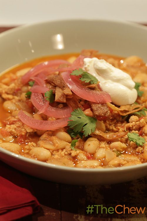 This easy & delicious Turkey & White Bean Chili is the perfect meal for the weekend!