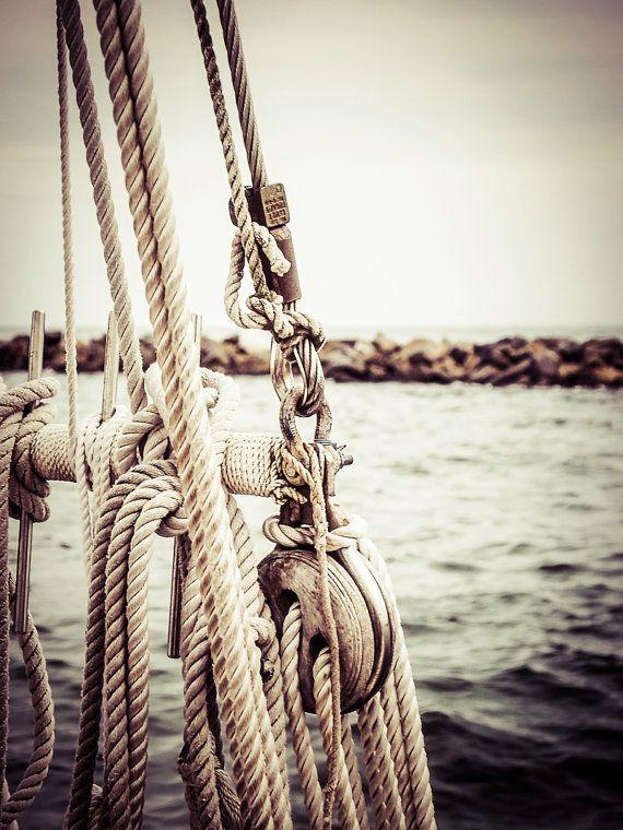 Sailboat sailing sails rope coastal sea ocean by photographybyVena, $30.00