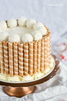 Tarta de coco y chocolate blanco