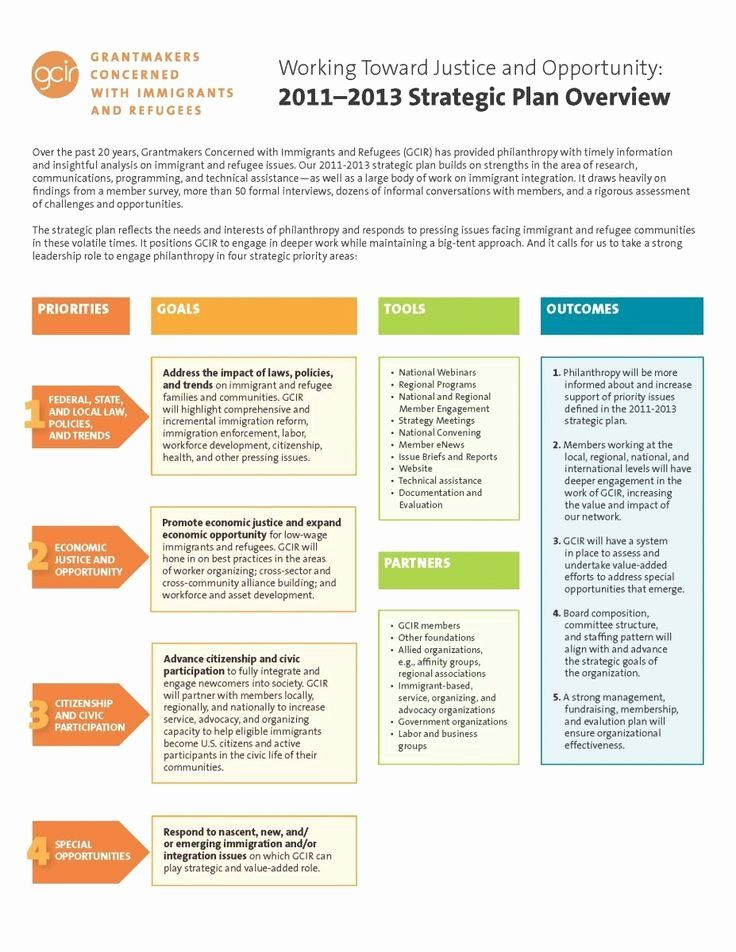 30 Strategic Plan Template Nonprofit in 2020