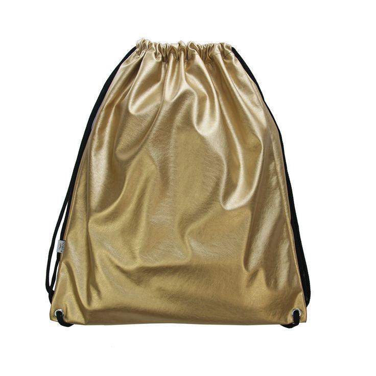 WOREK PLECAK 05 #gold #drawstring #bag #backpack #leather #festivalbag