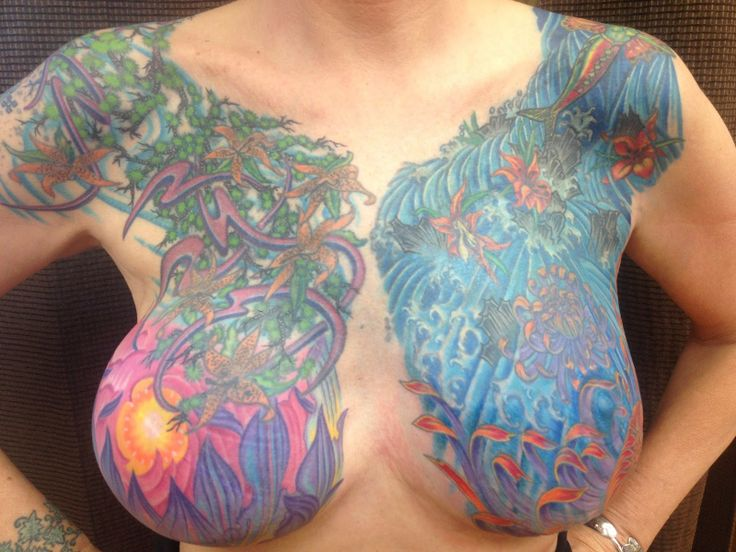 Cancer survivor Chest tattoo by Tim Creed at Diamond Mind ...