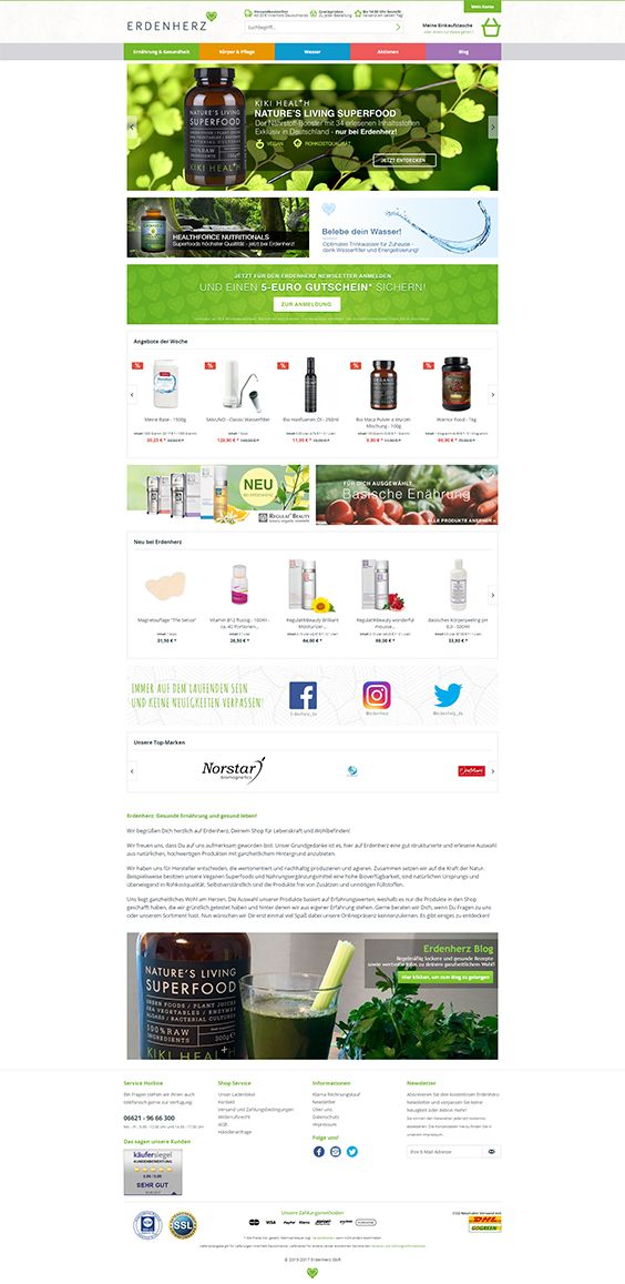 #ShopwareDesign #ShopwareTheme #ShopwareShop #eCommerce #eCommerceSoftware #eCommerceplatform #Onlineshop #Beauty #clean #webdesign #cleanwebdesign #erdenherz #superfood #supplements #vegan #vegetarian #raw #organic