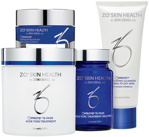ZO Getting SKin Ready System Offects® Exfoliating Cleanser, Polish & Acne Pore treatment #Acne #ZOSkinHealth #Beautyinthebag