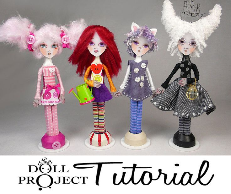 Clothes Pin Art Doll Tutorial - NEW Make your Own Miniature Dolls Complete How to Guide. $45.00, via Etsy.