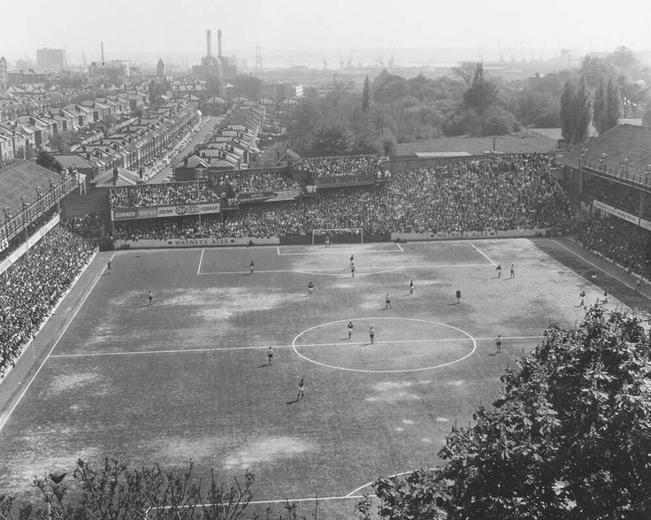 Southampton FC's old ground The Dell, 1966