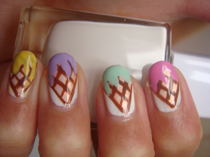 ice cream nails....gotta do this on my toes for summer :)   LOVE