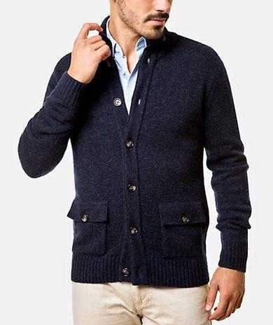 Blend wool cardigan Man Fall Winter | QUEBRAMAR - Shop Online