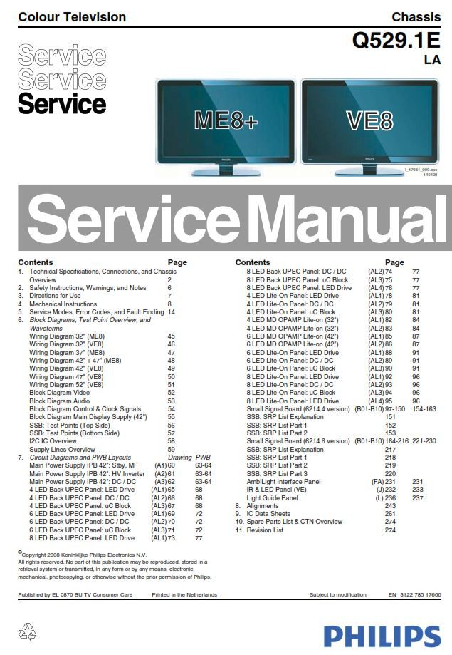 Philips 37pfl9603d 37pfl9603h Tv Service Manual And Repair Instructions Tv Services Philips Manual