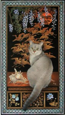 asian window cats   LESLEY ANNE IVORY