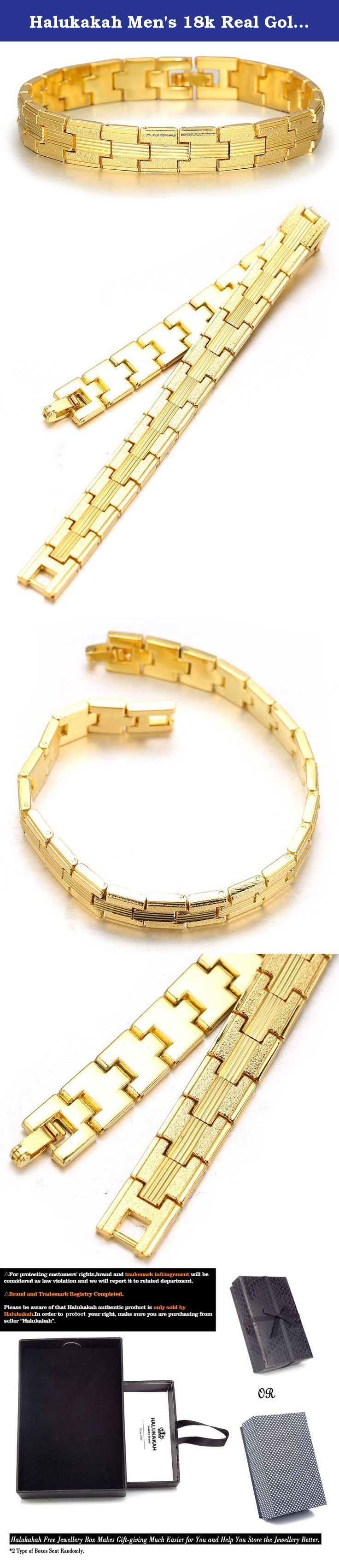 Halukakah Men's 18k Real Gold Plated Link Bracelet Carving Wristband with FREE Giftbox. About Halukakah Halukakah is a jewelry brand which started from 1990s,now Halukakah is an influential jewelry brand on the Web. We not only produce various jewelry products but also focus on novelty street style jewelry designs. Having our own factories based in East Asia,which makes it possible for everyone to enjoy our original design jewelries of high quality at a reasonable price. The Halukakah...