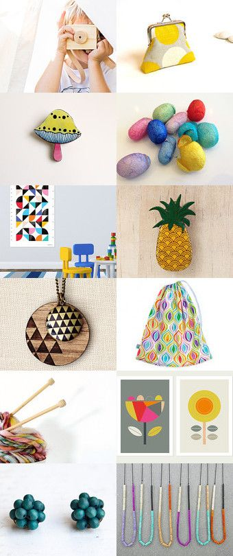 Such a delightful collection of colourful gifts.  Storm Proof by Kathe on Etsy