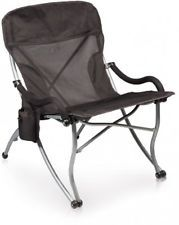 Picnic Time PT-XL Over-Sized 400-Lb. Capacity Outdoor Folding Camp Chair Black