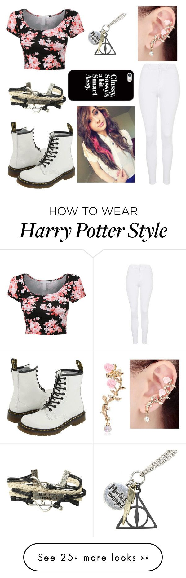 """""""Untitled #211"""" by kestelling on Polyvore featuring Topshop, Dr. Martens and Casetify"""