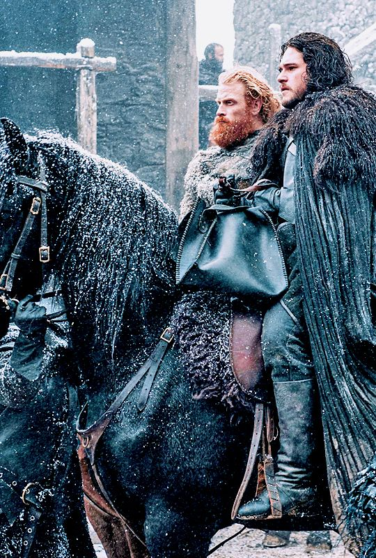 Jon and Tormund, Game of Thrones 5x07 - The Gift (x)