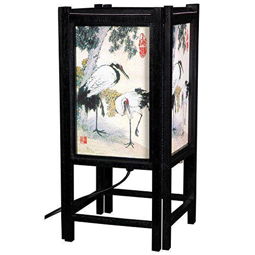 "Scandinavian Oriental Furniture 14"" Art Shoji Lamp - Birds -- You can get additional details at the image link."