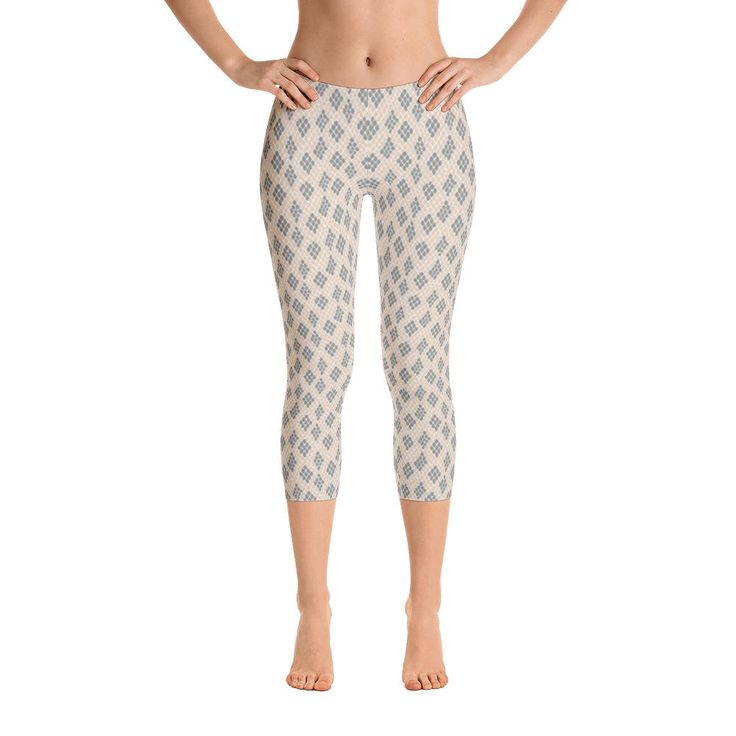 Excited to share the latest addition to my #etsy shop: Animal Skin-Capri Leggings, USA, printful http://etsy.me/2F7reyb #clothing #women #pants #animal #nude #pattern #skin #wild #light
