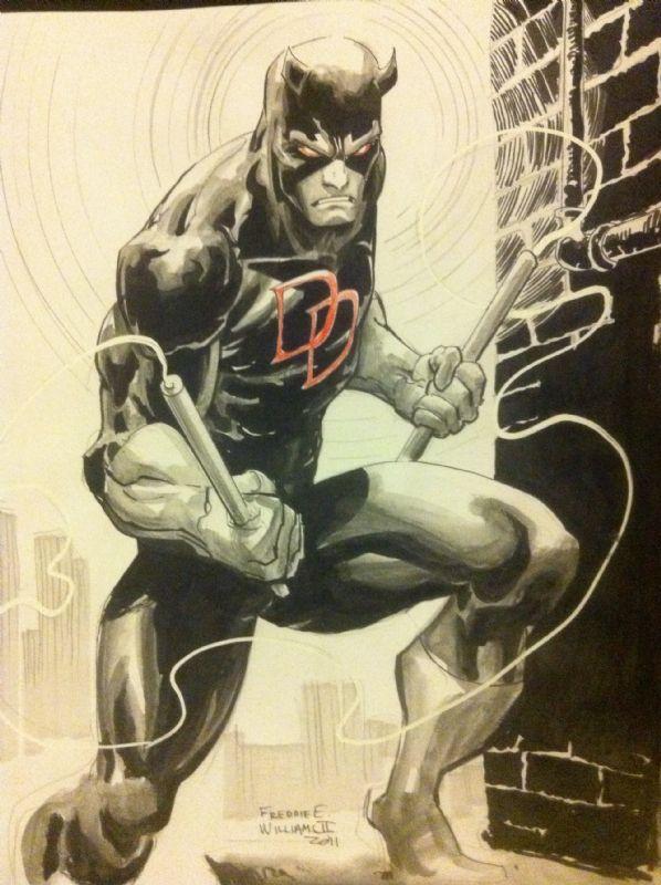 Freddie Williams - Daredevil Comic Art