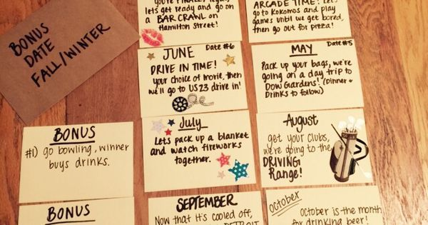 12 months of dates for our 2 year anniversary, QuotesGram