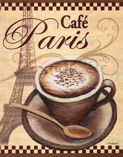 Posters Of Paris Cafes