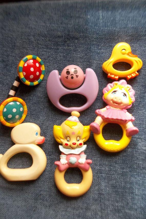 Vintage baby rattles...cute.