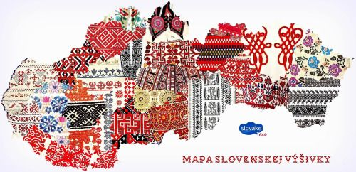 mapsontheweb:  A map of Slovakia based on patterns of embroideries used typically.