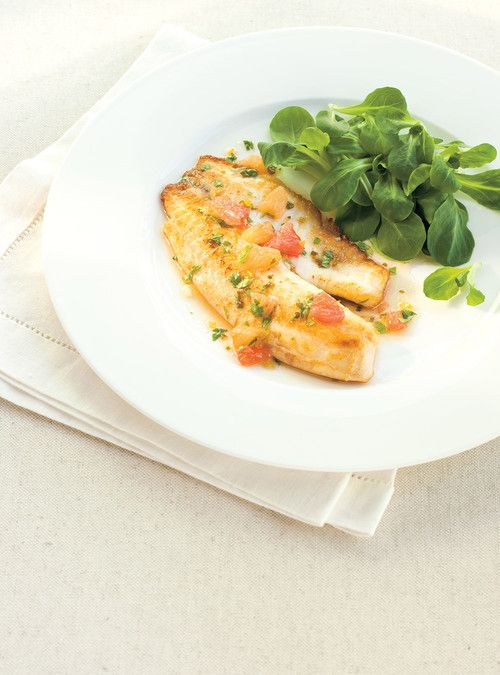 Pan-Fried Tilapia with a Warm Grapefruit Dressing 