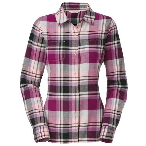 The North Face Women's 'Pomeria' Plaid Flannel Shirt ($57) ❤ liked on - Best 25+ Pink Flannel Shirt Ideas On Pinterest Fall Shirts