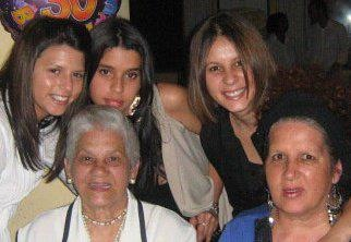 Attached is a picture of the 3 generations.  Left top:  Tracy (Me), Taran (younger sister), Tania (older sister)    Left bottom:  Granny (aka ouma), and my dearest mother Yulinda.