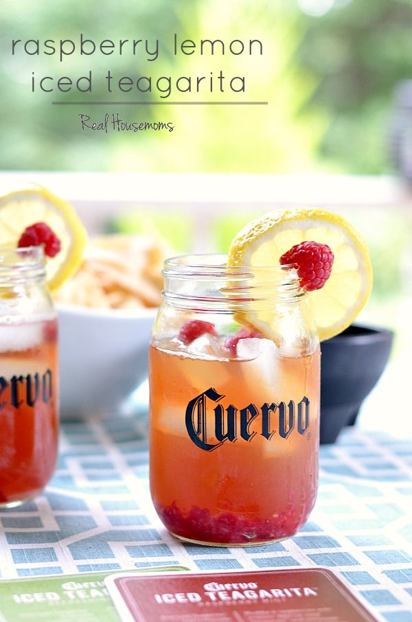 Raspberry Lemon Jose Cuervo Iced Teagarita™ is so refreshing. The perfect cocktail for the summer!
