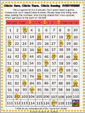 FREE hundred chart game - adding ten and subtracting five