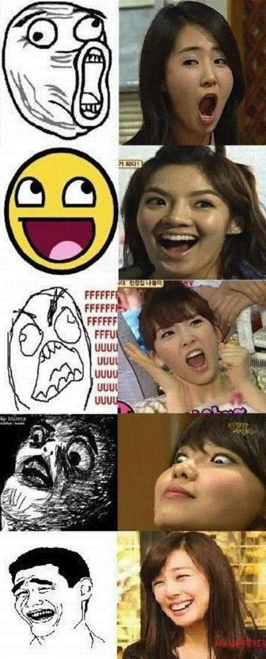 [LOL / WTF] Girls Generation members doppelgangers to 9gag memes icons ~ mykpopnote