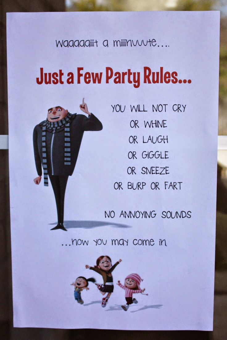 Gru entrance sign from G's Despicable Me minions themed 5th birthday party. Click or visit fabeveryday.com to see more photos, details and instructions, including lots of DIY minion activities and kids crafts.