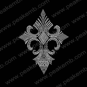 Shining Rhinestone Cross Iron On Transfers Wholesale