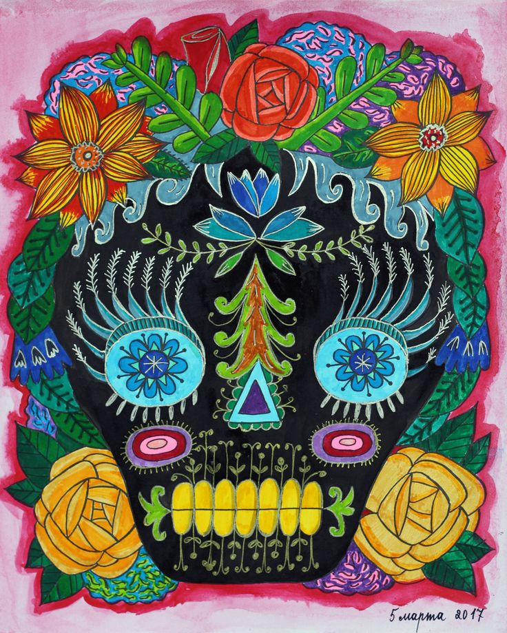 "My coloring of ""Day of the Dead"" book by Sarah Walsh #coloring #coloringbook #sarahwalsh #dayofthedead"