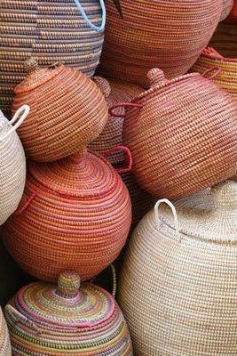 Traditional fair-trade baskets handmade from Senegal