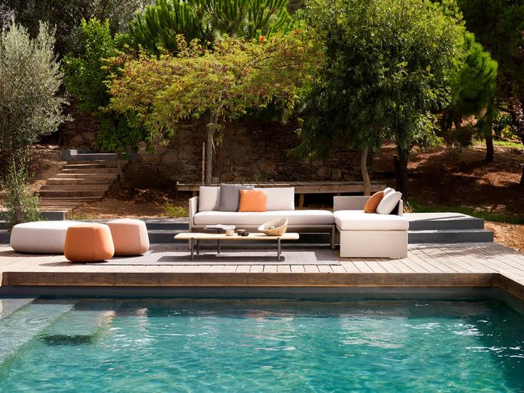Pufe De Tecido Para Jardim NOMAD By TRIBÙ Design Monica Armani