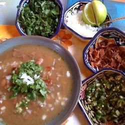 Carne en su Jugo (Meat in its Juices) Recipe   - I had this on Halloween and it was the BEST soup I've ever eaten.  You  can't eat it without the lime!