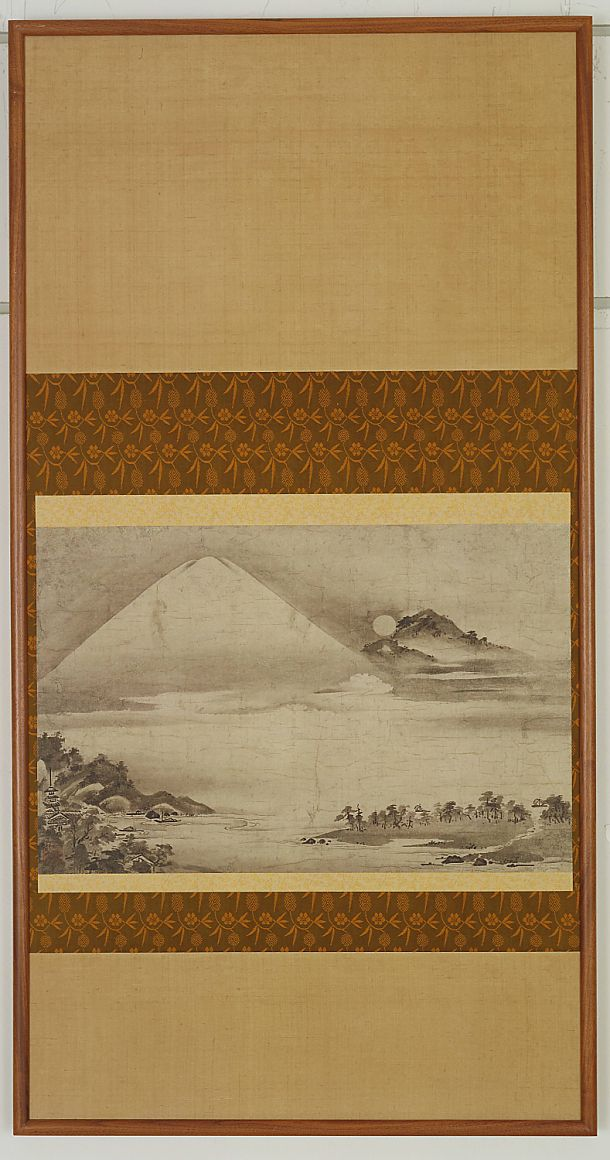 Landscape with Mt. Fuji | Ink on paper | Japanese Art | Late 16th- early 17th century | Momoyama period | Freer and Sackler | F1894.32