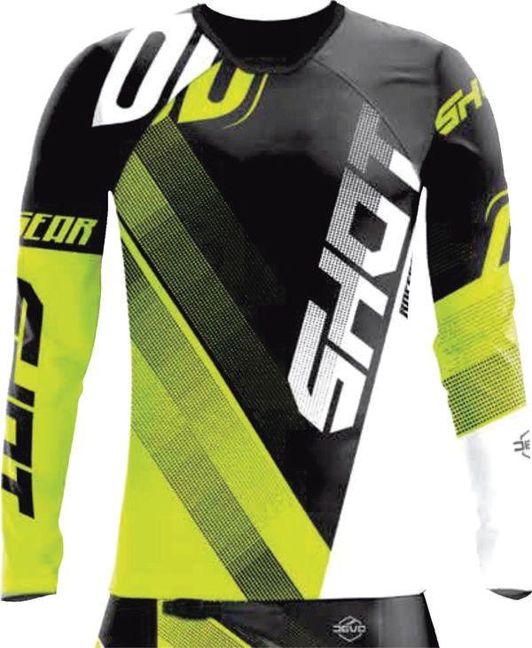 Download Shot Devo Ultimate Motocross Jersey Black Neon Yellow Jersey De Ciclismo Moda Para Ninas Ropa Deportiva